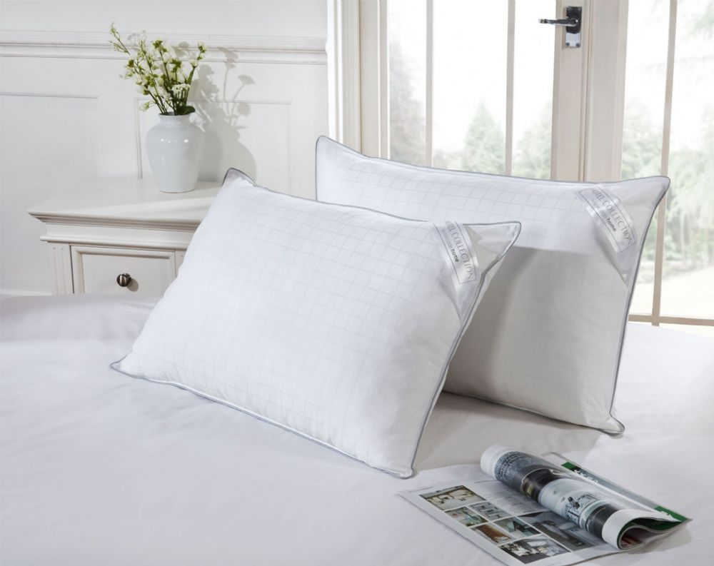 hotel collection luxury cotton pillow pair